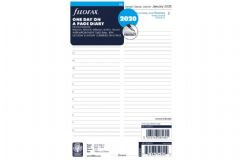 Filofax A5 Diary Day per page 5 language appointments 2020